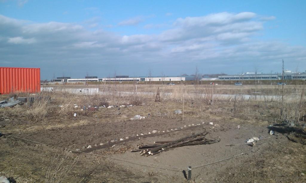 Jordstykket, 22. marts 2011, efter dagens gravearbejde
